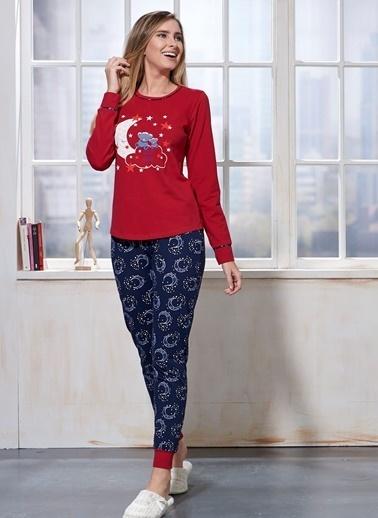 Sevim Pijama Takım Bordo